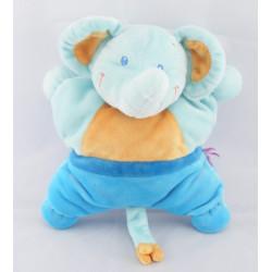 Doudou éléphant bleu POMMETTE