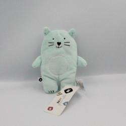 Doudou chat vert GRAIN DE BLE