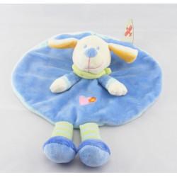 Doudou Plat chien bleu MOTS D'ENFANTS