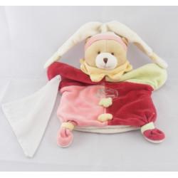 Doudou et compagnie plat ours arlequin avec mouchoir