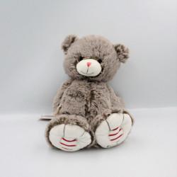 Doudou ours gris ROUGE KALOO 30 cm