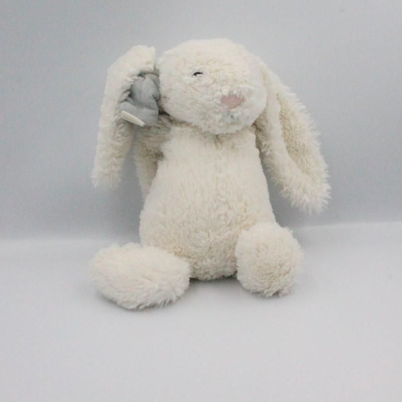 Doudou lapin blanc nez rose JELLYCAT 30 cm