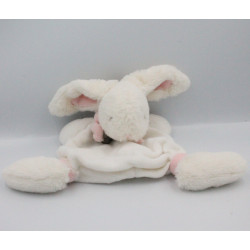 Doudou et Compagnie plat lapin blanc rose Bonbon
