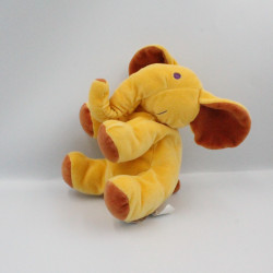 Doudou Eléphant Orange marron MARESE