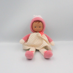 Doudou poupée bébé rose coeurs Miss COROLLE