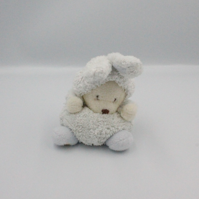 Peluche ours bleu déguisé en lapin BUKOWSKI