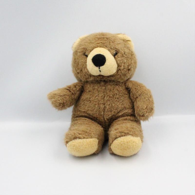 Peluche ours marron beige