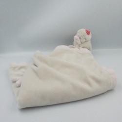 Doudou couverture oiseau pingouin rose beige Daisy et Coco NOUKIE'S