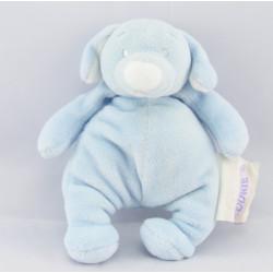 Doudou chien beige bonnet bleu NOUKIE'S