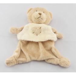 Doudou plat ours beige maillot jaune avec coeur KIABI