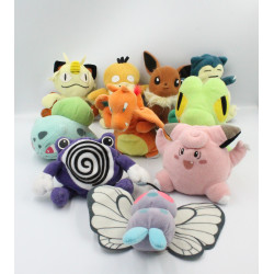 Lot de 10 Peluches Pokemon NINTENDO