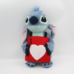 Peluche Stitch pancarte I love you Lilo et Stitch DISNEYLAND
