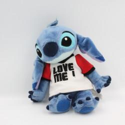 Peluche Stitch Tee shirt Love me Lilo et Stitch DISNEYLAND 22 CM