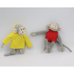 Mini doudou singe gris Popi