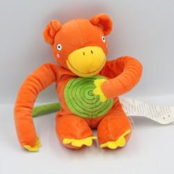 Doudou singe orange vert jaune IKEA
