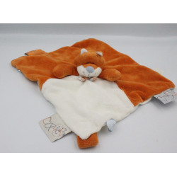 Doudou plat renard orange blanc William et Henry NOUKIE'S