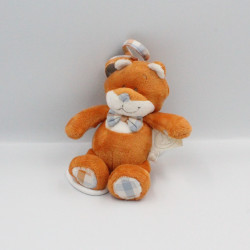 Doudou musical renard orange blanc William et Henry NOUKIE'S