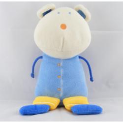 Doudou souris bleu jaune P'TIT DODO