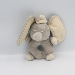 Doudou hochet éléphant gris Dumbo NICOTOY