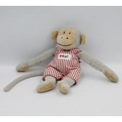 Petit Doudou singe gris Popi salopette BAYARD PRESSE