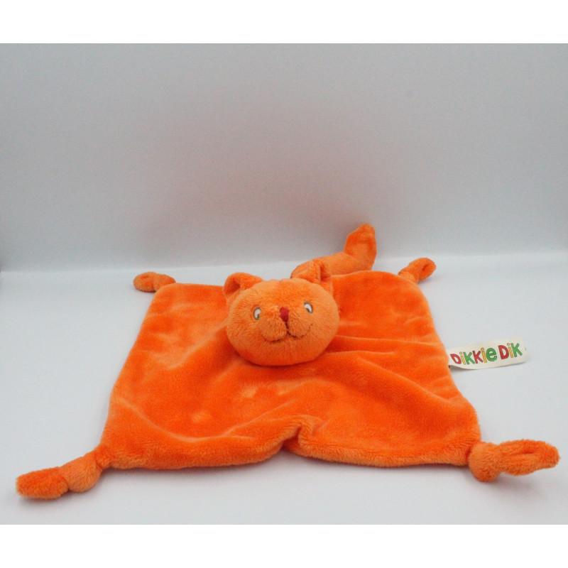 Doudou plat chat orange DIKKIE DIK