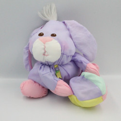 Peluche Puffalump lapin violet mauve rose jaune balle FISHER PRICE