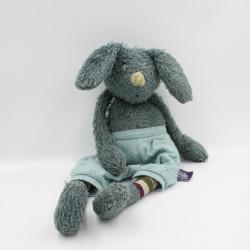 Doudou lapin bleu La bande à Polo MOULIN ROTY