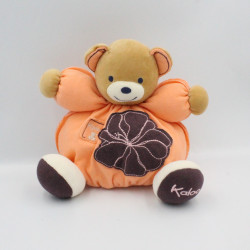 Doudou ours orange violet fleur Créations Tendres et douces KALOO