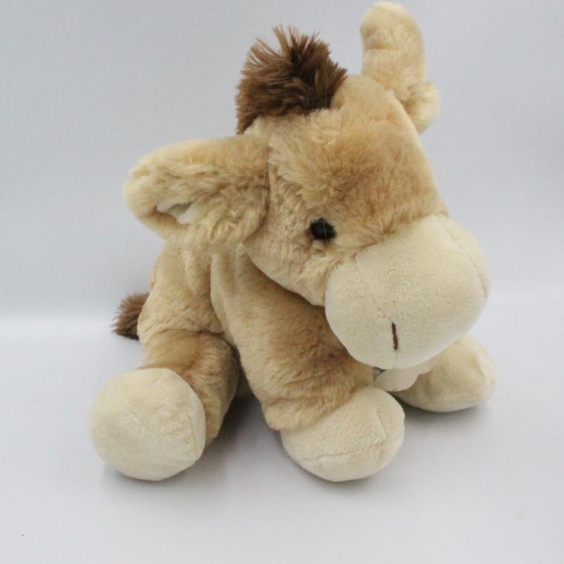 Doudou ane cheval beige marron HISTOIRE D'OURS