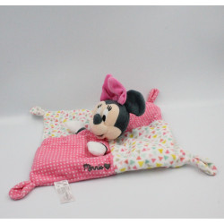 Doudou plat Minnie rose blanc triangles pois DISNEY NICOTOY