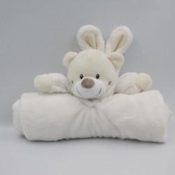 Doudou couverture ours déguisé en lapin blanc écru SIMBA TOYS