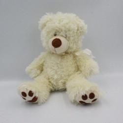 Doudou peluche ours blanc...
