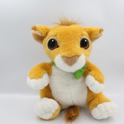 Peluche le roi lion Simba collier vert DISNEY AUTHENTIC MATTEL 1993