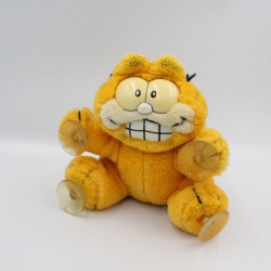 Ancienne Peluche chat orange Garfield ventouses 1978-1981