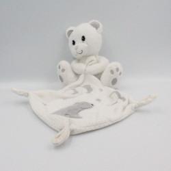Doudou ours blanc gris mouchoir étoiles lune SIMBA TOYS