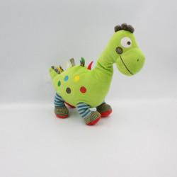Doudou dinosaure vert bleu rouge NICOTOY