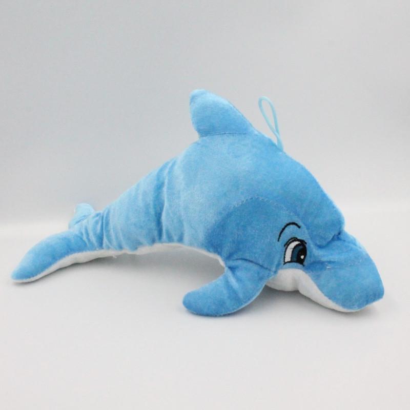 Doudou dauphin bleu TOYS COMPANY 34 cm