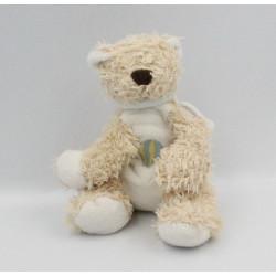 Doudou ours beige blanc montgolfière BENGY