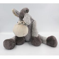 Doudou peluche cheval ane gris GRAY'S OF SHENSTONE