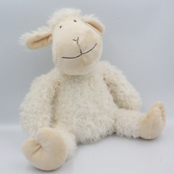 Doudou peluche mouton blanc CASA