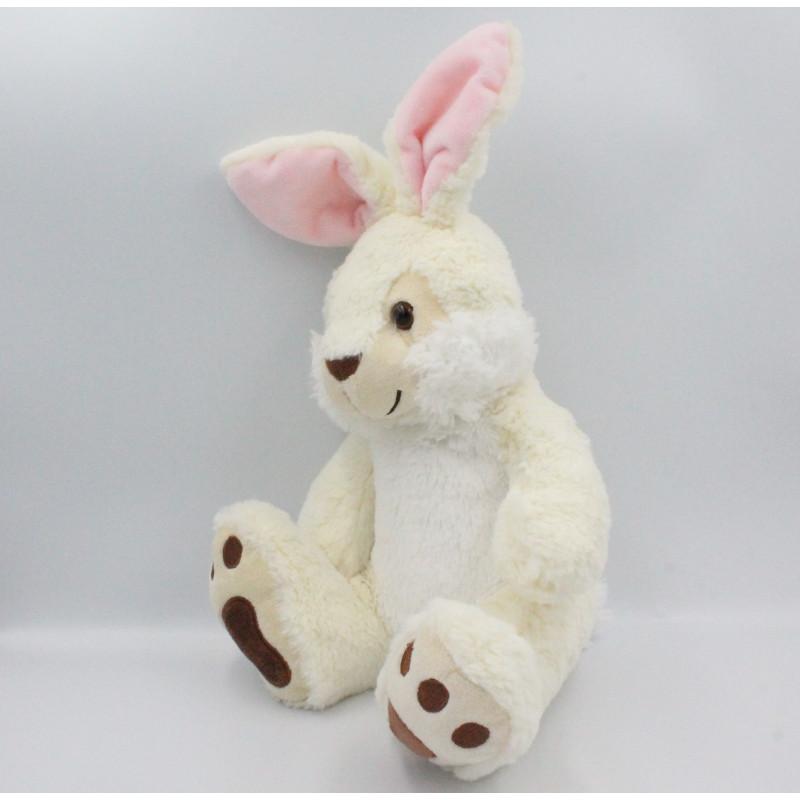 Doudou lapin blanc marron SIMBA TOYS NICOTOY