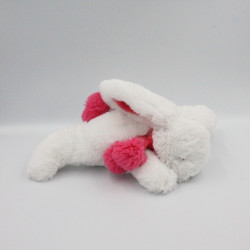 Doudou et compagnie lapin blanc rose tout doux Pompon Fraise