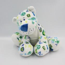 Peluche chat tigre blanc vert bleu chiffres étoiles ANNA CLUB PLUSH