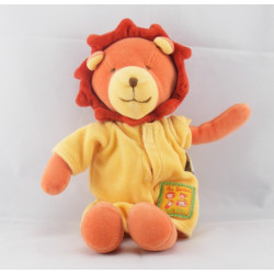 Doudou lion orange jaune les Loustics MOULIN ROTY