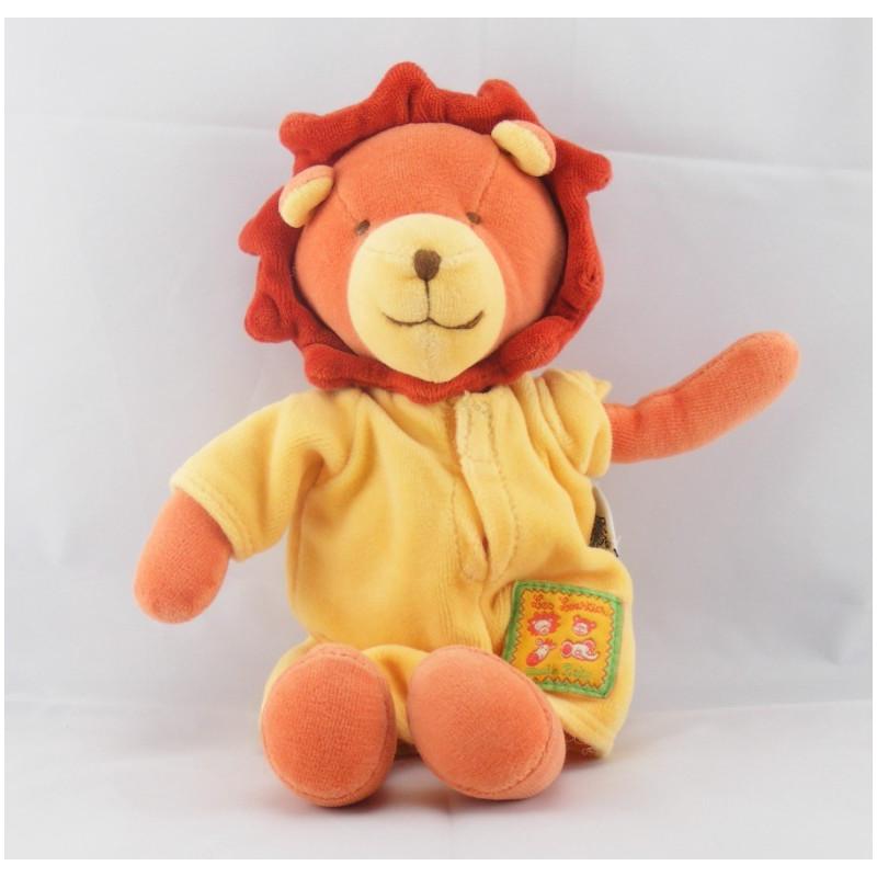 Doudou lion orange jaune les Loustics MOULIN ROTY
