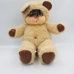 Ancienne Peluche ours beige marron Nombrilou AJENA