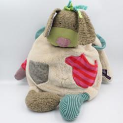Doudou range pyjama chien Les Jolis pas beaux avec sac MOULIN ROTY