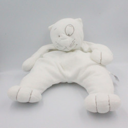 Grand Doudou chat ours blanc gris DPAM