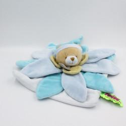 Doudou et compagnie collector ours plat fleur pétale bleu TATOO