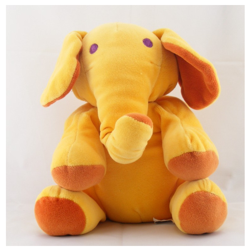 Doudou Eléphant Orange MARESE